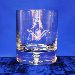 Premium Whisky Glass Square and Compasses With G