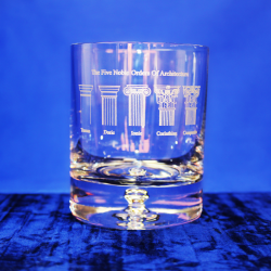 5 Noble Orders Premium Whisky Glass