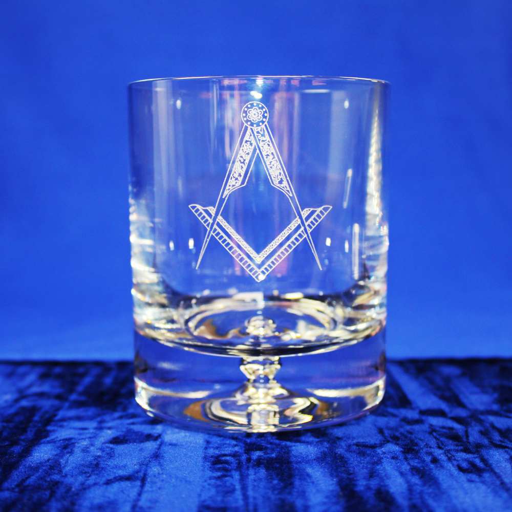 Premium Whisky Glass Square and Compasses Without G