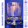 Shriners Premium Whisky Glass