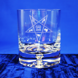 Premium Whiskey Glass Order of the Eastern Star